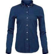 Chemise femme Casual twill - 4003 - bleu indigo - manches longues