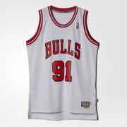 Maillot NBA Chicago Bulls Denis Rodman adidas Swingman Hardwood Classics Blanc taille