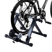 Home trainer pour velo noir equipement/support entrainement velo 60