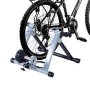 Home trainer pour velo argent noir equipement/support entrainement velo 61
