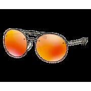 Prada SPS54R Gunmetal Brun Miroité Orange