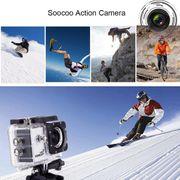Caméra de sport- C30 2.0 pouces Écran 4K 170 Degrés grand Angle WiFi Sport Caméra d'Action Caméscope avec Boîtier Étanche Cas, le Support