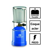 Lampe a gaz KE2012 Kemper- Lampe camping coque ABS - Lampe de camping pour cartouche gaz 190g