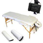 Table de massage 7,5 cm épaisseur blanc Helloshop26 2008004
