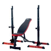 ISE Cage à Squats Supports de Squats Réglable Squat Rack Avec Barres de Support SY-RK1001