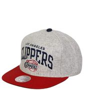 L.A. Clippers Homme Snapback Basketball Gris Mitchell & Ness