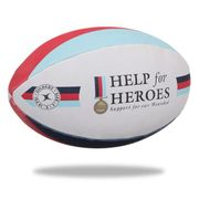 BALLON DE RUGBY  Ballon de rugby SUPPORTER - Help the Heroes - Taille 5