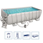 Bestway Ensemble de piscine Power Steel Rectangulaire 56670