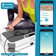 Home Vibration Plate 900 Smart - Plateforme vibrante oscillante - 5 Programmes - 2 Moteurs - Bluetooth -Appli - Gris