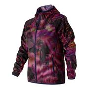 Veste New Balance Windcheater Printed coupe-vent rose noir femme