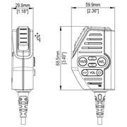 B&g V60 Remote Mountable Fist Mic