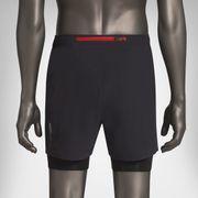 Short de running Ashmei Mens 2 in 1 shorts Black SH18B