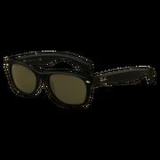 Ray-Ban New Wayfarer Black Rubber G-15 XLT