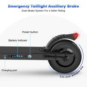 Trottinette Electrique Patinette Ultra Légère Pliable et Réglable en Hauteur pour Ados et Adulte, Noir