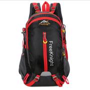 Sac à double bandoulière 40L, multi-fonctionnel, imperméable pour sport en plein air, camping, randonnée-noir