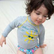 Même pas peur Mayo Parasol t-shirt de bain  anti uv bébé manches longues