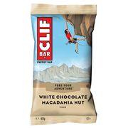 Lot barres protéinée Clif Bar au chocolat blanc et noix de macamadia (x12)