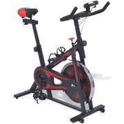 Vélos d'appartement Esthetique Vélo d'appartement avec capteurs de pouls Noir et rouge