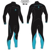 COMBINAISON SURF HOMME 5/4/3MM UNLIMITED POLAIRE MADNESS BLACK/CYAN