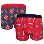 Arsenal FC officiel - Lot de 2 boxers thème football - garçon
