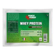Présentoir de 25 sachets de Whey Protein Punch Power chocolat – 30g