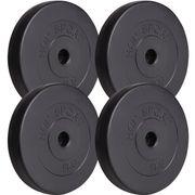 Poids disques en plastique 20 kg (4x5 kg) Hop-Sport