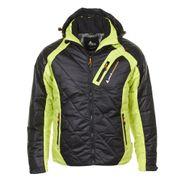 Peak Mountain - Doudoune homme CILORG- noir/jaune