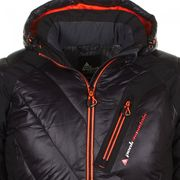 Peak Mountain - Doudoune  homme CYBRID- noir/orange