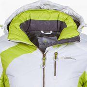 Peak Mountain - Doudoune de ski femme ACILORG-blanc/vert