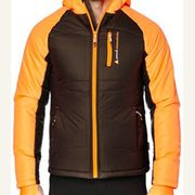 Peak Mountain - Doudoune homme CEPEAK- marron/orange