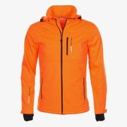 Peak Mountain - Blouson softshell garçon ECANNE1016-noir/orange