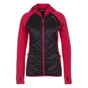 Peak Mountain - Blouson polar shell bi-mati�re femme ACERLA-noir/fushia