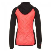 Peak Mountain - Blouson polar shell bi-mati�re femme ACERLA-orange/noir