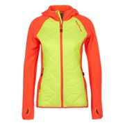 Peak Mountain - Blouson polar shell bi-mati�re femme ACERLA-jaune/orange