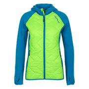 Peak Mountain - Blouson polar shell bi-mati�re femme ACERLA-vert/bleu
