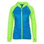 Peak Mountain - Blouson polar shell bi-mati�re femme ACERLA-bleu/vert