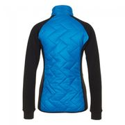 Peak Mountain - Blouson polar shell bi-mati�re femme ACERBI-noir/turquoise