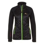 Peak Mountain - Blouson polar shell bi-mati�re femme ACERBI-noir/noir