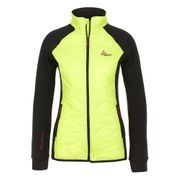 Peak Mountain - Blouson polar shell bi-mati�re femme ACERBI-noir/jaune