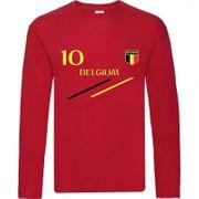 Tee shirt manches longues Foot enfant Belgique  Taille 3 é 14 ans - 3 / 4 ans rouge