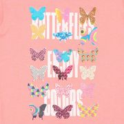 Miss Girly-T-shirt manches courtes  fille 3/8 ans FAYWAY- rose