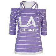 T-Shirt avec Gilet Femme LaGear Pourpre Rayé