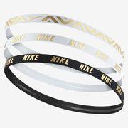 Lot de 3 bandeaux élastiques Nike metallic-