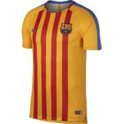 Nike Maillot De Football Barcelone Training 2017-18 Jaune Maillot Club Homme Football