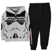 Survêtement Set Haut Zippé Pantalon Toison Sweat à Capuche Star Wars