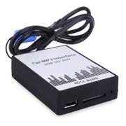 Chargeur allume cigare-Voiture Mp3 Interface Usb / Sd Câble De Données Audio Digital Cd Changeur Pour Audi