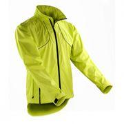 veste coupe-vent imperméable cycliste running S185X - jaune citron