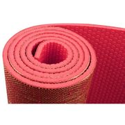 TAPIS DE SOL - TAPIS DE GYM - TAPIS DE YOGA  Tapis de yoga finition jute 6 mm - Corail