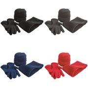 Result - Ensemble bonnet, gants et tour de cou polaires - Homme