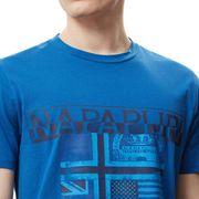 T-shirt Napapijri Sawy manche courte bleu foncé